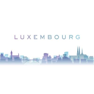 Luxembourg city skyline.