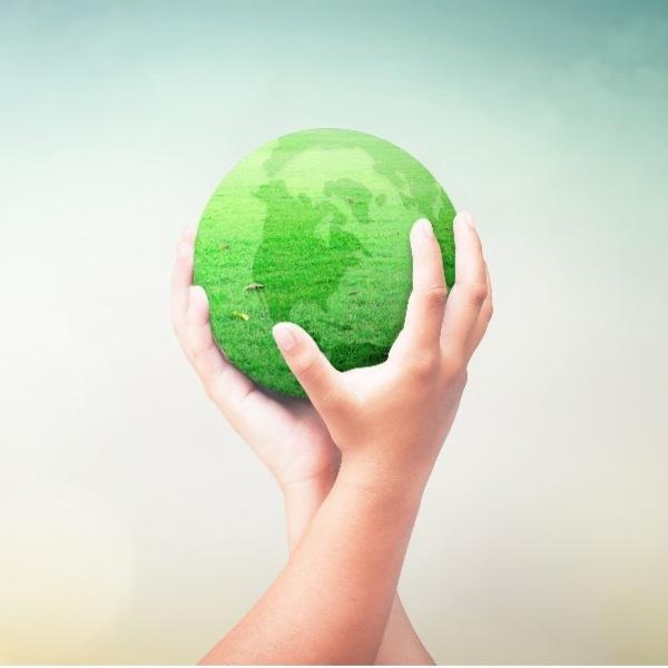 Holding a globe