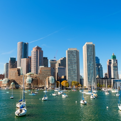 Boston from the harbor